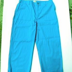 CHICOS teal crop pants. NWT. Size 3
